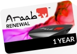 HobbySat ArabSat Renew araabTV IPTV Arabic Receivers for 1 year