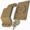 DGA-6240 Satellite TV Antenna mount for eaves.
