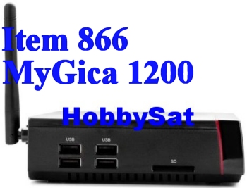 Leftside of Android Media TV Box - MyGica ATV1200 Dual Core