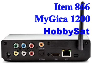 Back of Android Media TV Box - MyGica ATV1200 Dual Core