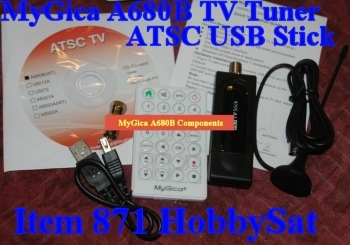 Contents of MyGica HDTV USB Stick TV Tuner A680B Windows 7