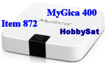 Front and rightside of MyGica ATV400 media player box smart tv