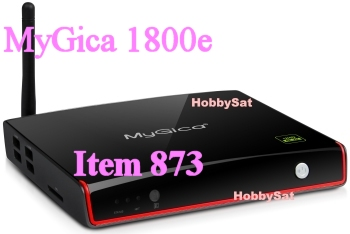 Side and Front of MyGica ATV1800e media player Internet TV Android HD quadcore