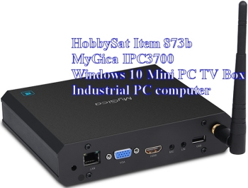 Back of MyGica IPC3700 Windows 10 MiniPC TV Box Computer