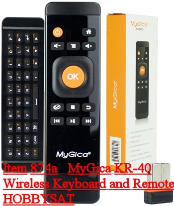 All Included - MyGica KR-40 Wireless Remote and Keyboard