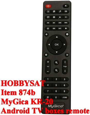 Remote - Official MyGica KR20 XBMC/Kodi remote control designed for Android TV boxes