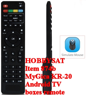 Front, side and simulate mouse - Official MyGica KR20 XBMC/Kodi remote control designed for Android TV boxes
