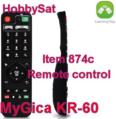 Remote front and side - MyGica KR60 factory infrared remote control XBMC Android