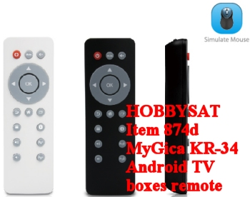 White, black and side - MyGica KR34 factory infrared remote control XBMC Android