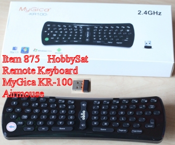 Box, remote, adapter - MyGica KR100 motion remote 2.4 GHz wireless keyboard Android air mouse for Android media players