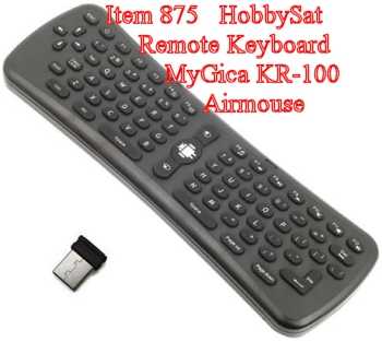 Keyboard and WiFi adapter - MyGica KR100 motion remote 2.4 GHz wireless keyboard Android air mouse for Android media players