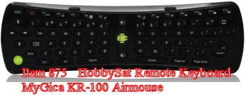 Keyboard - MyGica KR100 motion remote 2.4 GHz wireless keyboard Android air mouse for Android media players
