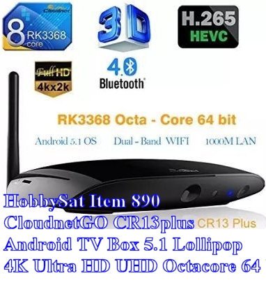 CloudnetGO CR13plus Android TV Box 5.1