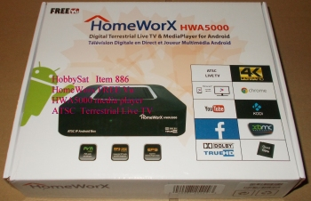 Box - HomeWorx HWA5000 FREE Vu digital Terrestrial ATSC Tuner IP Internet TV Box with Live TV & MediaPlayer for Android
