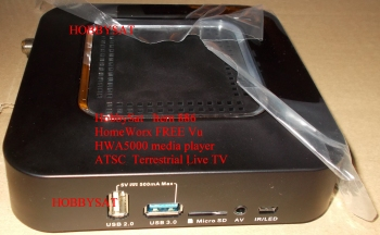 Side of HomeWorx HWA5000 FREE Vu digital Terrestrial ATSC Tuner IP Internet TV Box with Live TV & MediaPlayer for Android
