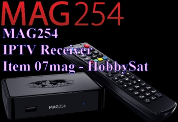 Receiver and Remote - Mag254 IPTV SET TOP BOX receiver